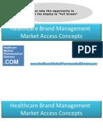 Healthcare Brand Management Market Access Concepts...