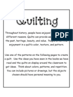Quilting Worksheets