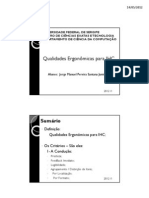 Seminário de IHC - Qualidades Ergonômicas para IHC
