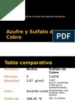 Azufre y Sulfato de Cobre
