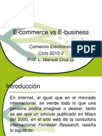 1E Commerce vs E Business