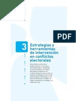 3 Estrategias y herramientas de intervención en conflictos electorales