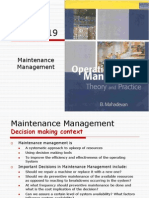 Maintenance Mgmt Chapter 19