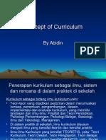 3. Concept of Curriculum
