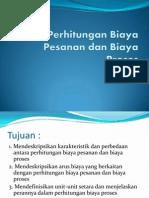 Perhitungan Biaya Pesanan Dan Biaya Proses