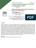 Free Radical Scavenging Activity of Albizia Lebbeck Methanolic Extract in Arthritic Rats