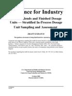FDA Stratified Sampling