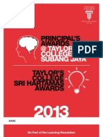 Application Form - Principal's Awards 2013 & TCSH Awards 2013