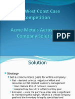 Acme Case Study Outcome