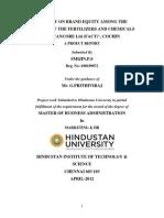 MBA project (Smijin .P.S )