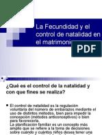 La Fecund Id Ad y El Control de Natalidad