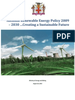 National Renewable Energy Policy of Jamaica 2009 - 2030, August 2010
