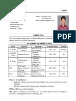 Veeramni m.pharm Resume