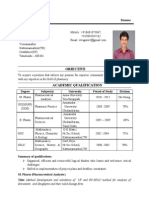 veeramni mpharm resume - Resume Format For Pharmacy Freshers
