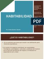 Habitabilidad y Arquitectura - Andrea Sanchez