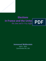 2012 I Wallerstein No 326 Elections in France and the United State the Same and So Very Different