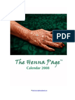 The Henna Page 2008 Illustrated Calendar