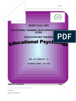 Manual Educational Psychology