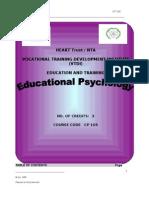 Manual Educational Psychology
