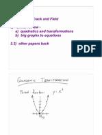 Review for Quadratics and Trig