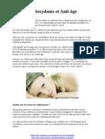 Antioxydants et anti-âge