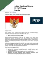 Profil Dan Struktur Lembaga Negara Menurut UUD 1945 Negara Republik