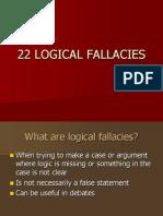 22 Logical Fallacies