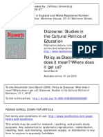 Policy as Discourse