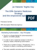 Francesca Cerreta, European Medicines Agency Patients Rights Day May 2012