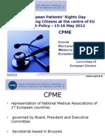 Birgit Beger Standing Commitee of European Doctors - European Patients' Rights Day - 15-16 May 2012