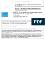 Using the Six-sigma Metric to Measure and Improve the Performance of Supply Chain