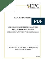 Raport de Mediu Strategia Energetic a 2011 2020 Rev03 27102011