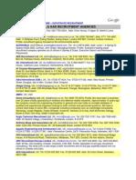 Agency List-Oil &Gas New