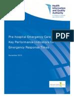 Pre Hospital Emergency Care KPIs