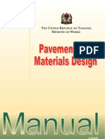 Tanzania Pavement and Materials Design Manual 1999 Chapter 1