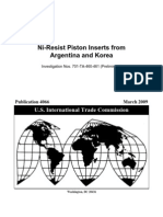 Ni-Resist Piston Inserts From Argentina and Korea