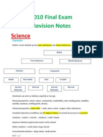 2010 Final Exam Revision Notes