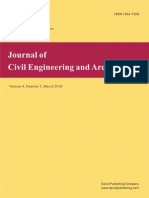Contributo Su Journal of Civil Engineering and Architecture