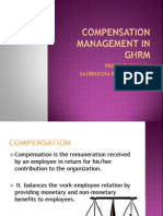 Compensation Management in Ghrm