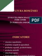 Agricultura Romaniei - Evolutia Principalilor Indicatori in Perioada 1918-2000