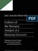 Culture of the Baroque - Maravall