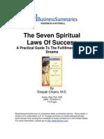 The Seven Spiritual Laws of Success BIZ