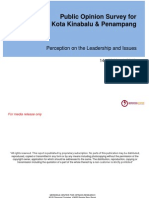 KK & Penampang Public Opinion Survey - Press Release 15 May 2012 Top Line Chart