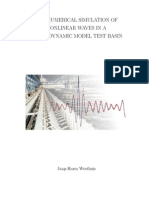 The Numerical Simulation of Nonlinear Waves in a Hydrodynamic Model Test Basin