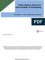 KK & Penampang Public Opinion Survey - Press Release 15 May 2012 FINAL