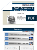 Wealth Management at School of Business Administration HEG-FER Fribourg, May 2012 by Marc Lussy