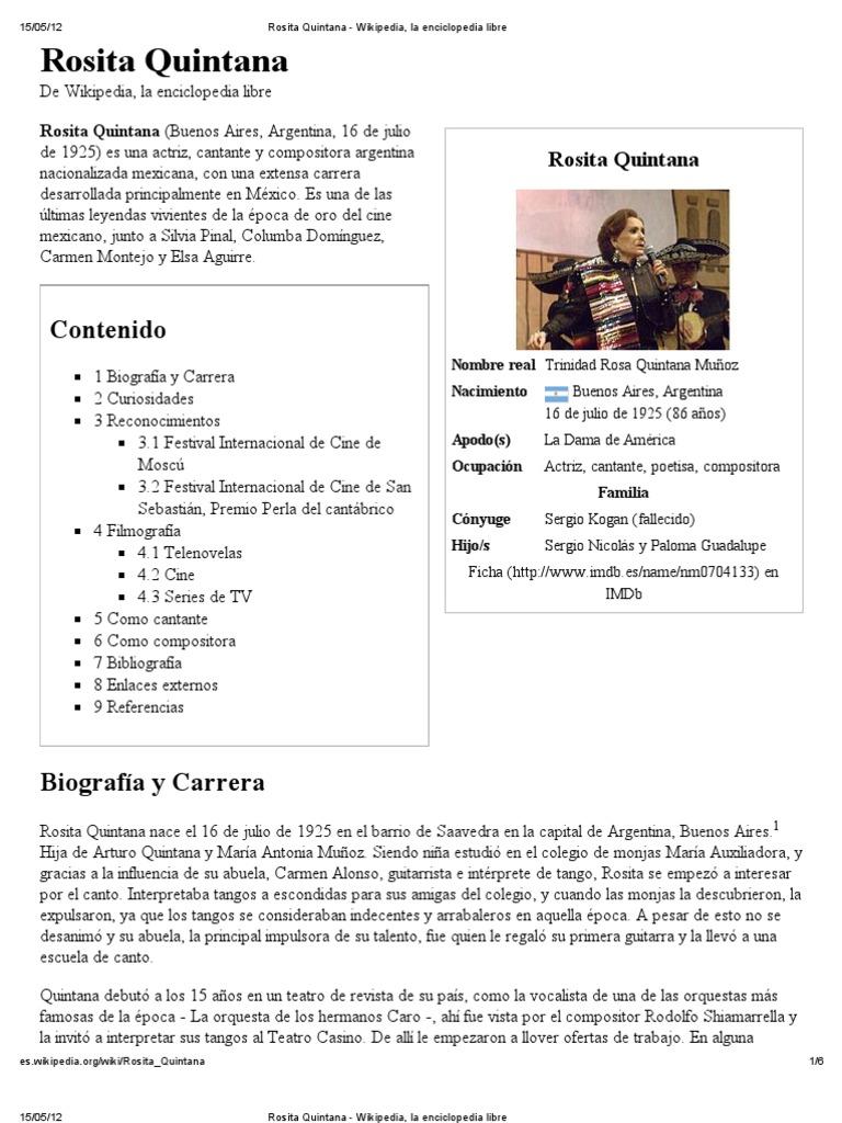 Rosita Quintana Wikipedia La Enciclopedia Libre Cine