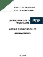12 Management Modules Booklet