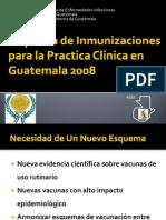 Esquemas de Inmunizaciones Guatemala 20081