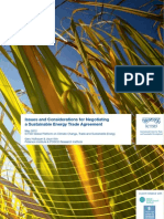 Issues and Considerations for Negotiating a Sustainable Energy Trade Agreement